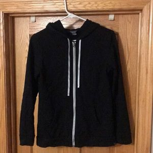 Eddie Bauer zip up hooded sweatshirt